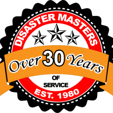 Disaster Masters over 30 years of service